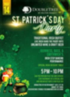 Saint Patrick Party Postcard Front 2020.