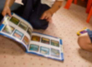 Child Browsing Trading Cards