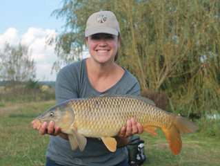 Our last carp of the season. Paula caught this cracker all by herself on a day fly fishing with Fish