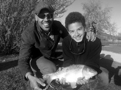 Father and Son Fishing lessons