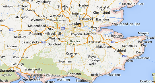 Fishing London, Location map. Fishing Lessons and Fishing guide