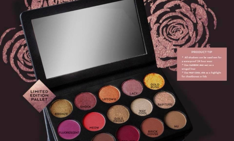 A'mare Rose Metal Eyeshadow Pallet