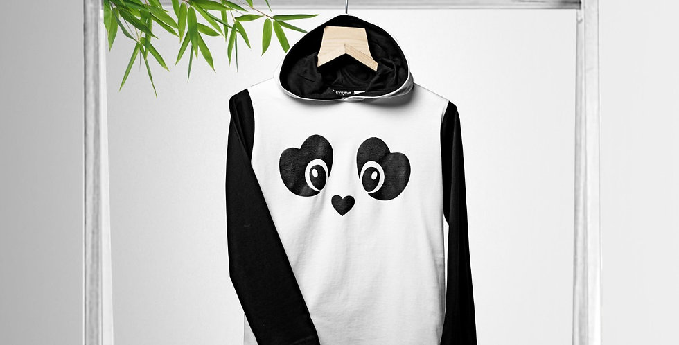 Panda T-shirt Hoodie