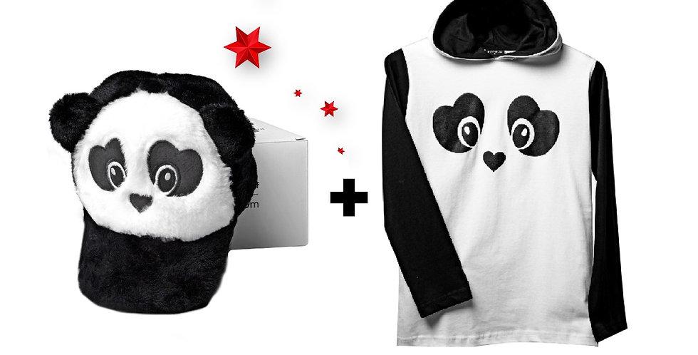 Combo Panda Cap & T-shirt 70% OFF