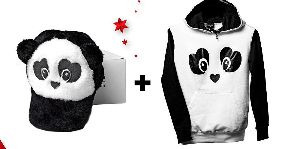 PandaHoodie and Cap Combo