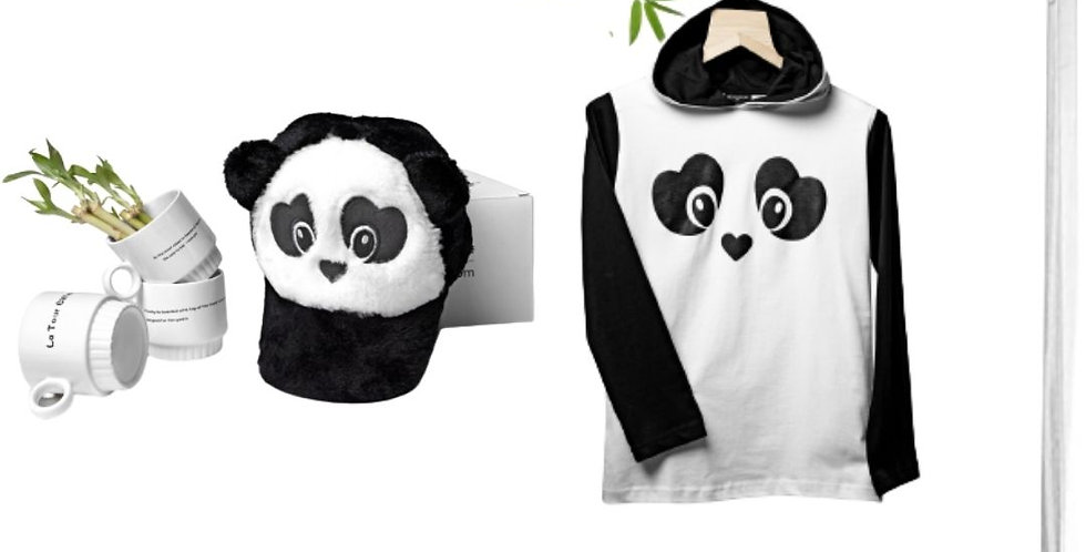 Combo Panda Cap & T-shirt