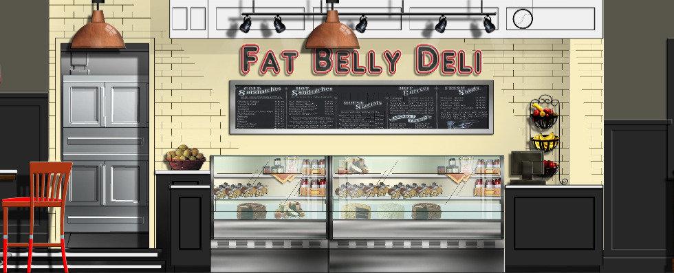 CKI Design Studio Fat Belly Deli Renderi
