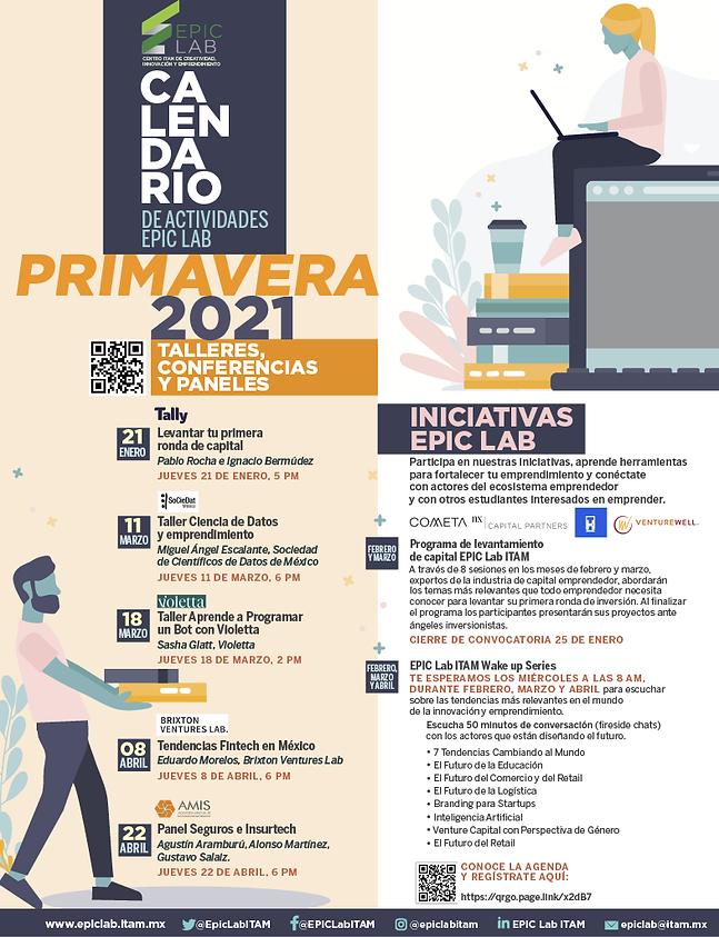 EPIC CALENDARIO PRIMAVERA 2021 10MARZO10
