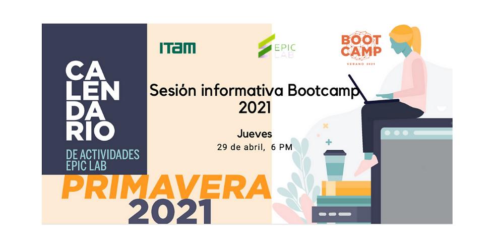 Sesión informativa de Bootcamp 2021