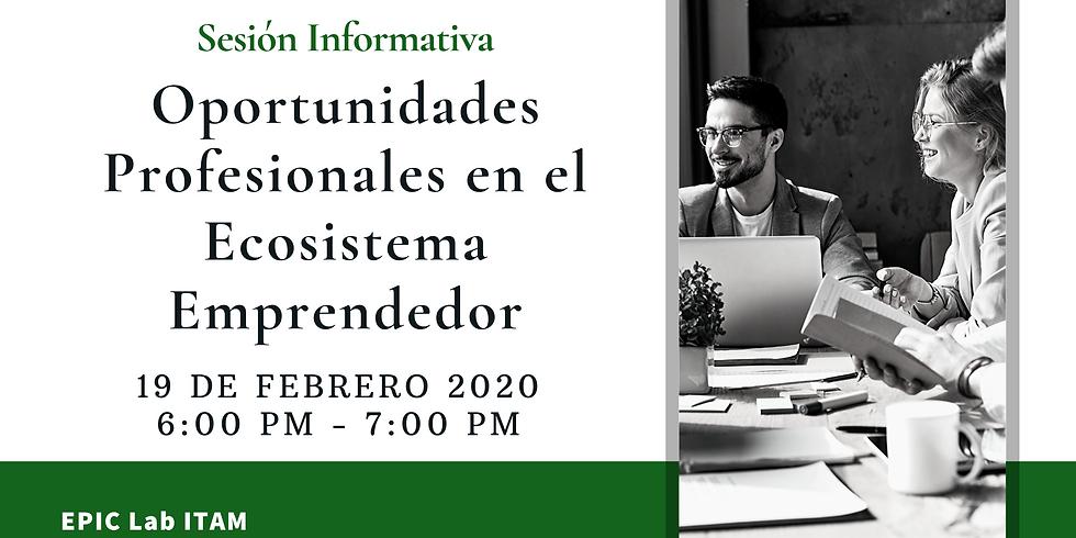 Sesión informativa Oportunidades Profesionales