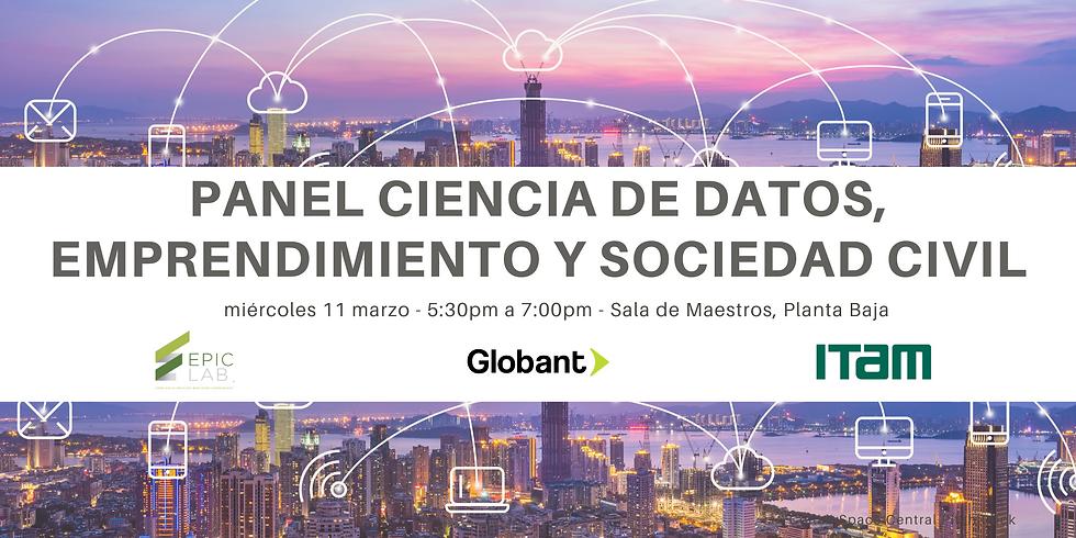 Panel Ciencia de Datos, Emprendimiento y Sociedad Civil