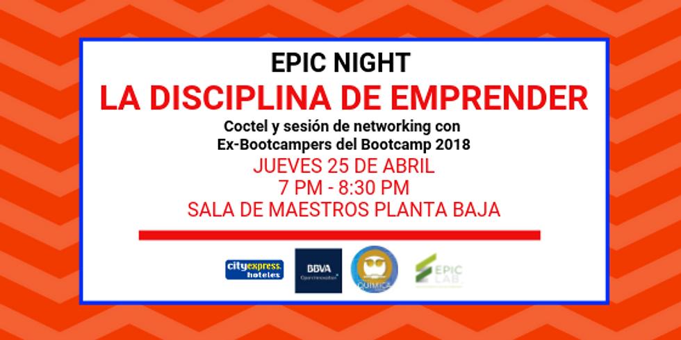 EPIC Night: La Disciplina de Emprender