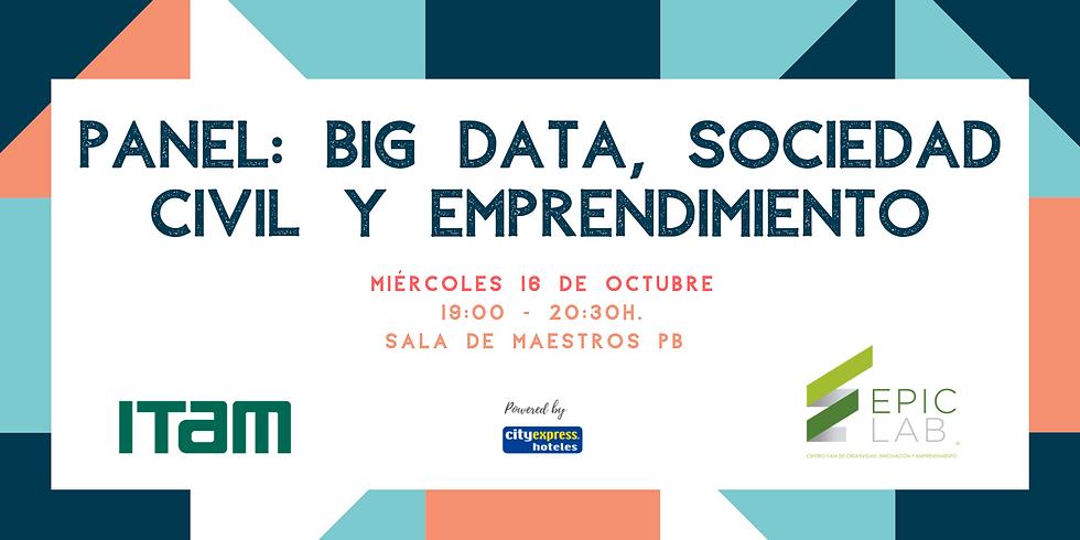 Panel: Big Data, Sociedad Civil y Emprendimiento