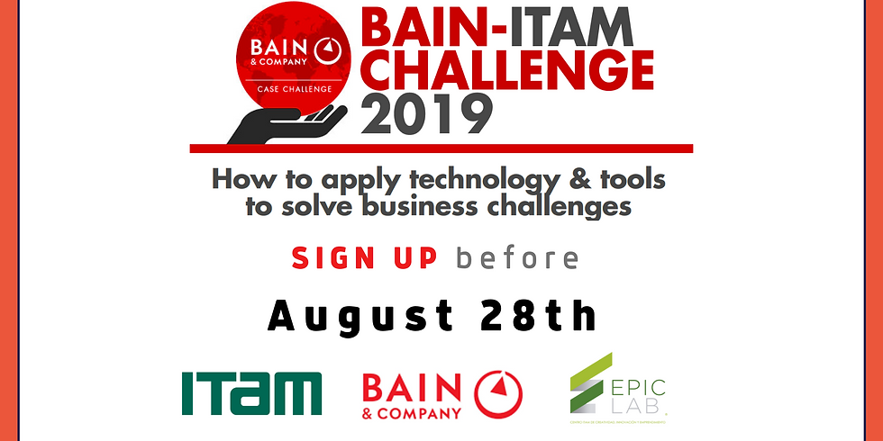 SIGN UP Bain-ITAM Challenge 2019