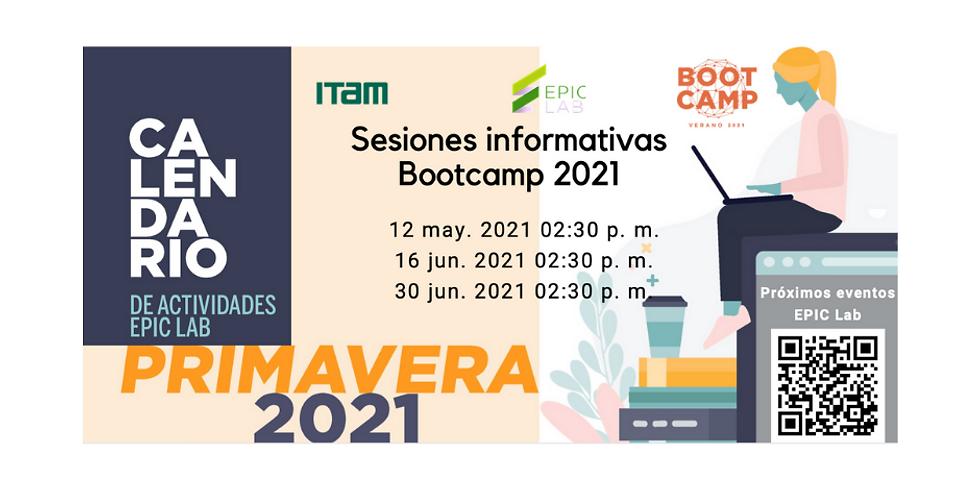 Sesiones informativas Bootcamp 2021