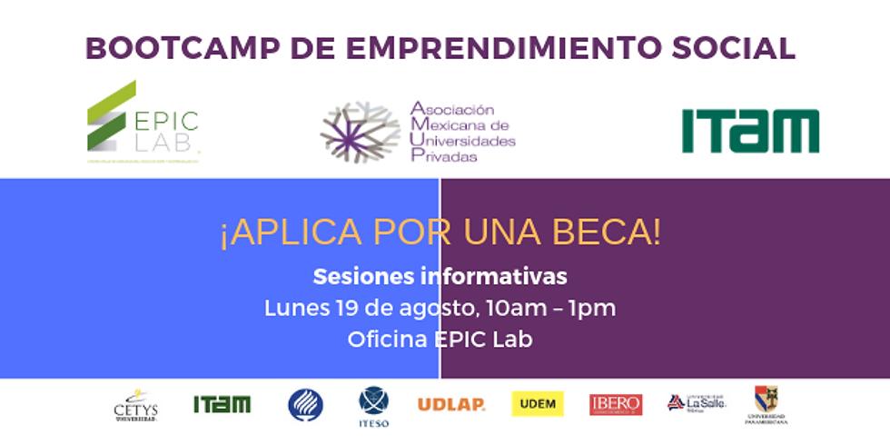 Sesión Informativa Bootcamp de Emprendimiento Social