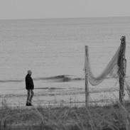 Gubbe på stranden