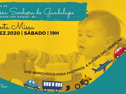 Comunidade São Roque inicia arrecadação de brinquedos para ação de Natal da Pastoral da Criança