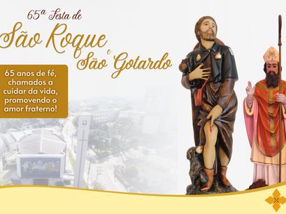 Paróquia São Roque lança 65ª festa em honra aos padroeiros São Roque e São Gotardo