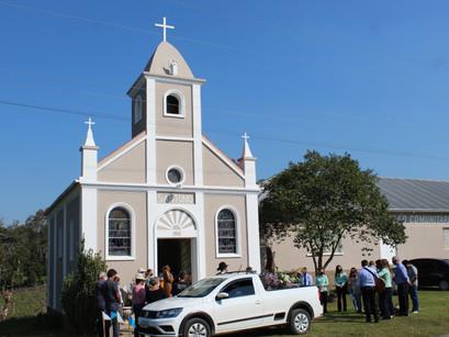 Comunidade da Linha Pradel prepara festa de São Miguel com Missa e jantar drive-thru
