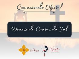 """Comunicado da Diocese de Caxias do Sul para as atividades pastorais em tempo de """"bandeira preta"""""""