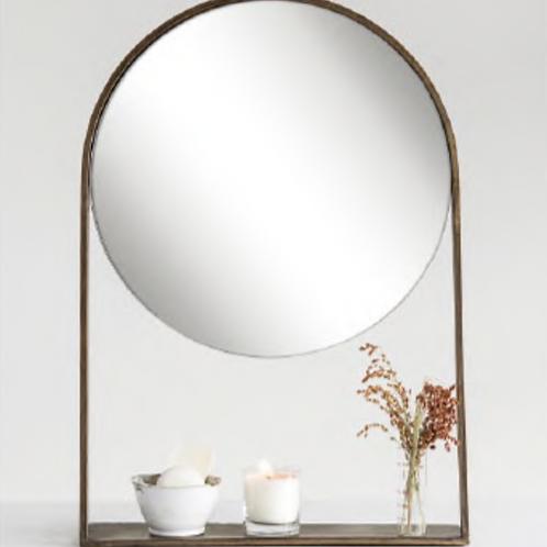 Espejo Circular con Estante