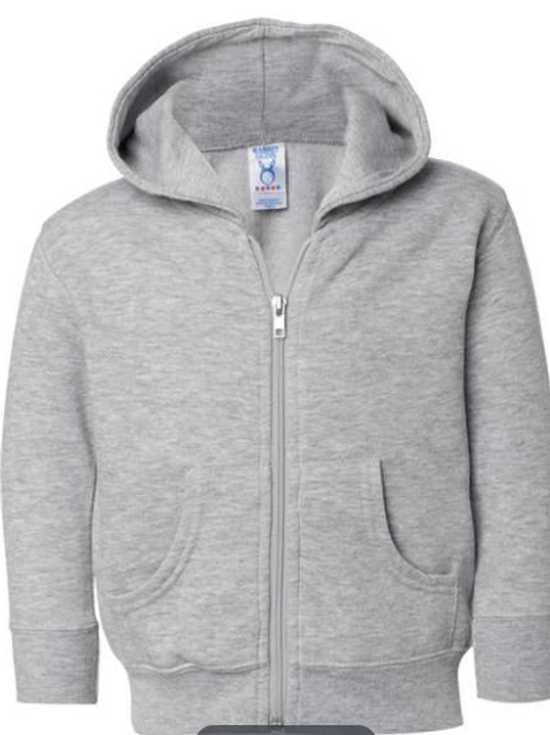 Toddler Zipper Hooded Sweatshirt