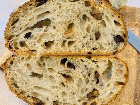 לחם מחמצת (שאור) 80% הידרציה