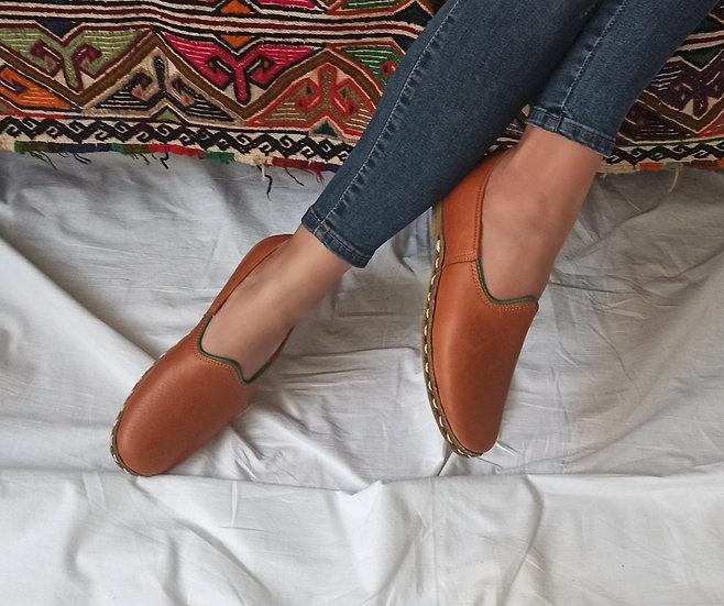 Klasik Yemeni Ayakkabı Kahve Modeli
