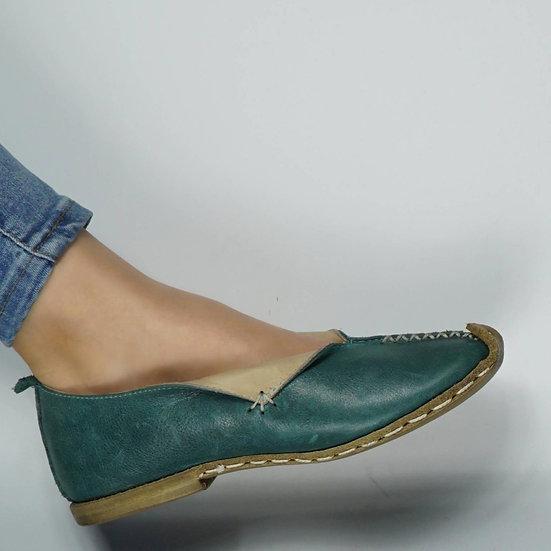 Tomris Hatun Ayakkabı Zümrüt Yeşil Modeli