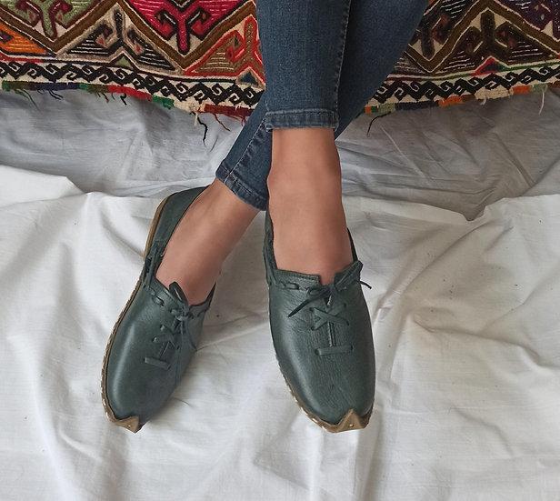 Anadolu Ayakkabı Antik Yeşil Modeli