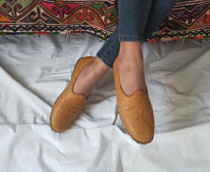 Klasik Yemeni Ayakkabı Sarı Modeli