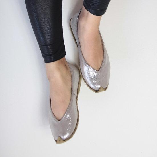 Havva Ana Ayakkabı Gümüş Modeli
