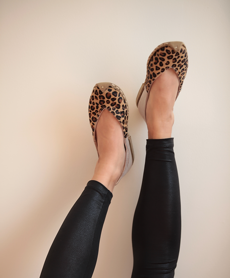 Havva Ana Ayakkabı Leopar Gümüş Modeli