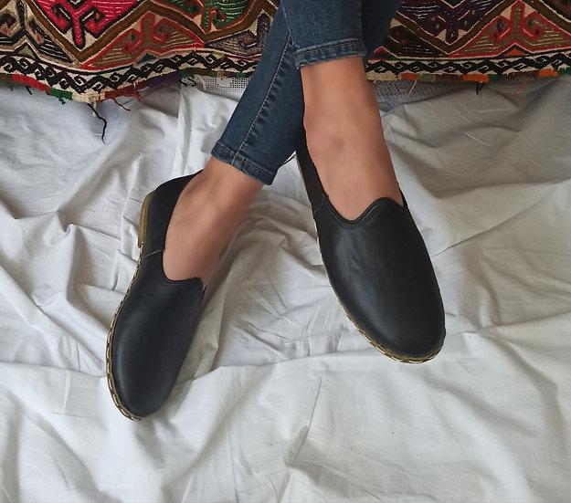 Klasik Yemeni Ayakkabı Siyah Modeli