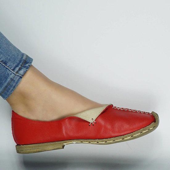 Tomris Hatun Ayakkabı Bayrak Kırmızı Modeli