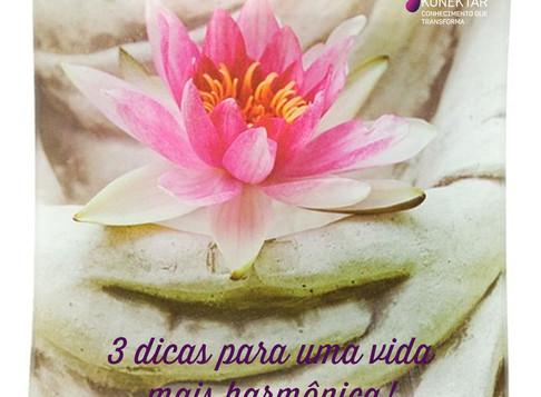 3 passos para uma vida mais harmônica