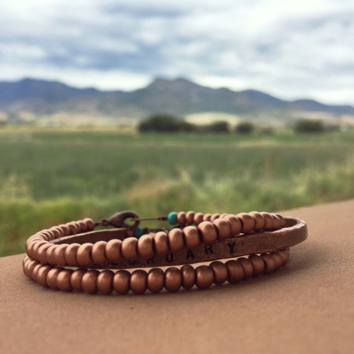 This Beaded Copper Bracelet Is A Welcome Companion To Our Hammered Bracelets Or Worn Layered Up By Themselves Made From Gl Beads