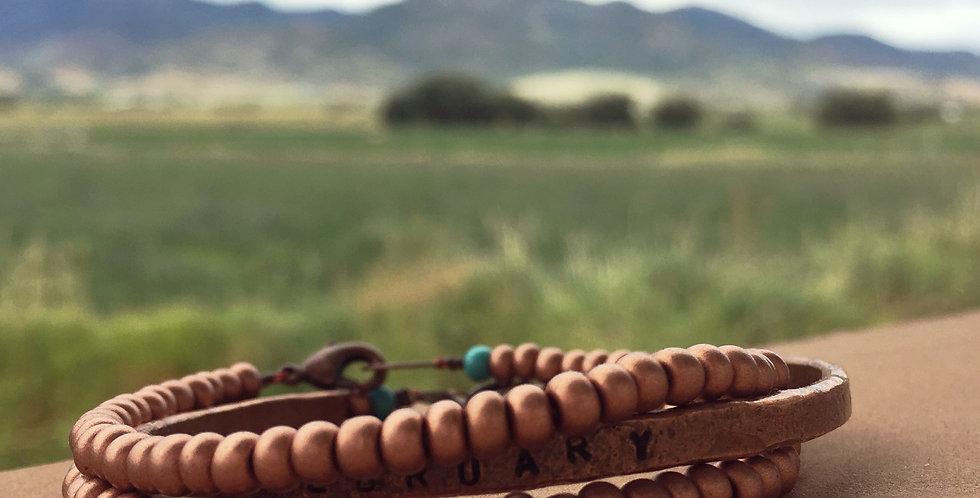 The Copper Seed Bead Bracelet