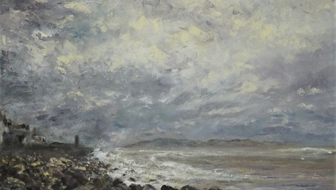 Lyme in the Storm, 2021 Oils on canvas, 30 by 45cm £750