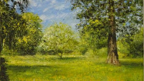 Summer Trees 2021 20 by 32cm, Framed £495