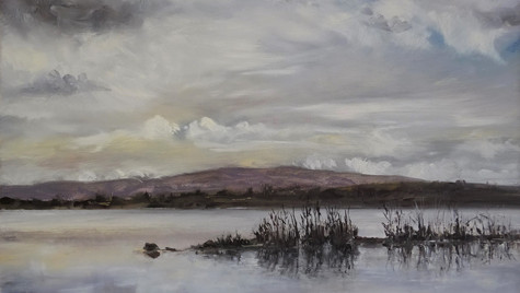 County Mayo, Winter Reflections 2021 30 by 45cm Oils on Board £750