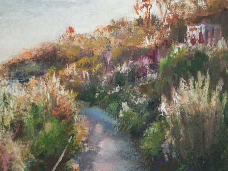 Evening walk, Lyme Regis (Langmoor Gardens)