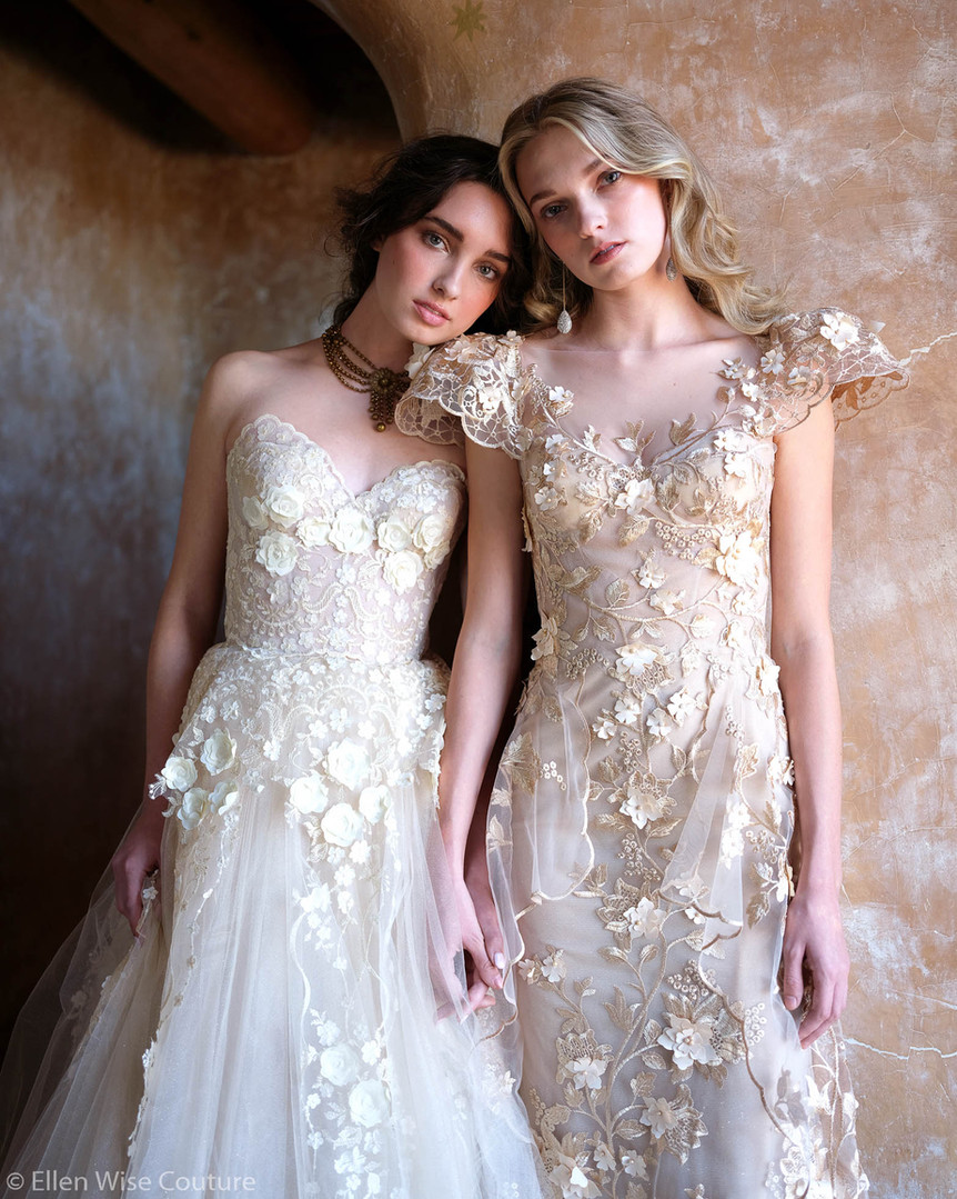 Allegra and Allesandra Wedding Gowns by Ellen Wise Couture