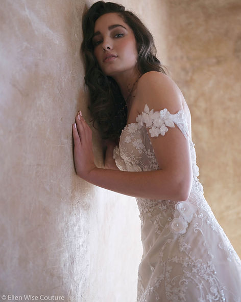 """Isabella"" Custom Designed Wedding Dress by Ellen Wise Couture, 2021 Cielo Collection"