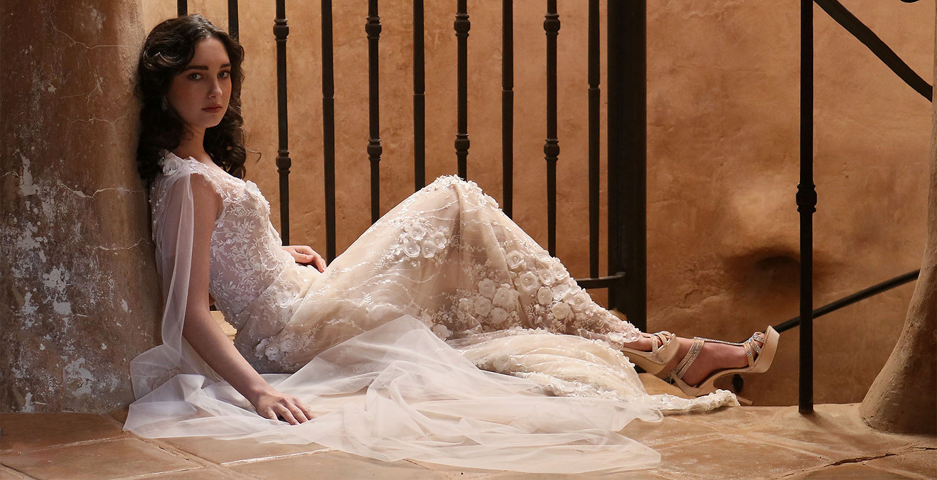 """Arabella"" Custom Designed Wedding Dress by Ellen Wise Couture, 2021 Cielo Collection"