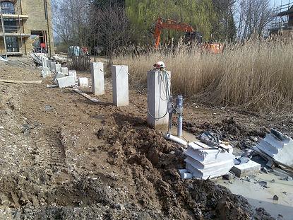 diamond drill drilling reinforced concrete