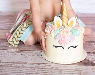 Unicorn Baby Smash Cake