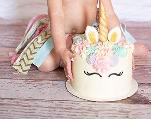 Unicorn Baby Smash Cake