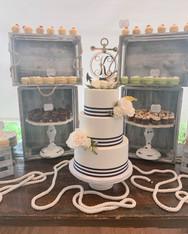 Nautical wedding display